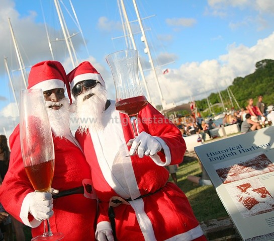 nelsons dockyard christmas champagne party