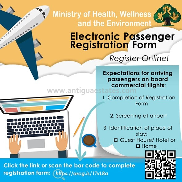 electronic passenger registration form